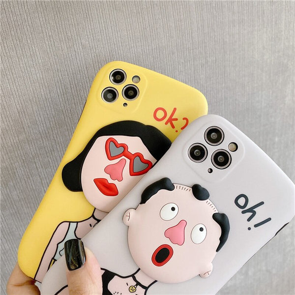 Funny Boy Girl Phone Case For iPhone Couple Friends Gifts