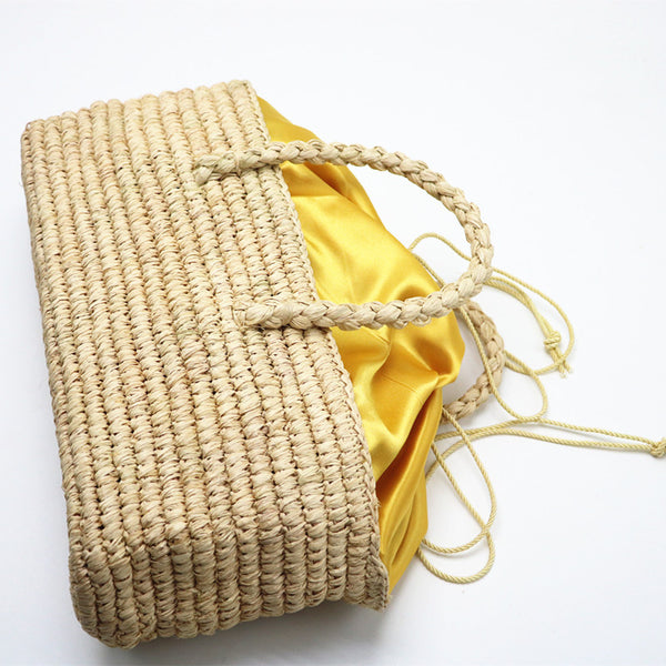 Straw Bags Vintage Small Clutch Brand Woven Shoulder Bag