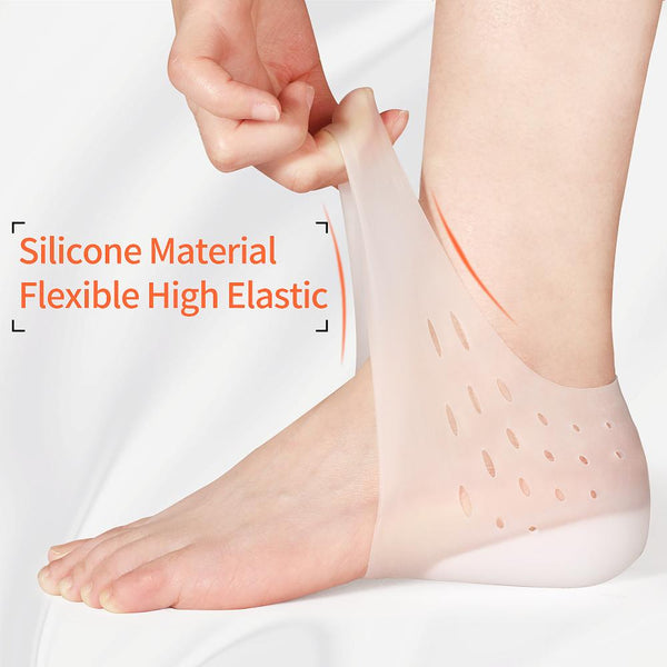 Invisible Height Increase Socks Women Men Heel Pads Silicone Gel Lift Insoles