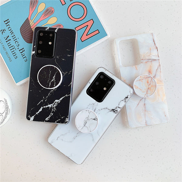 Marble Samsung Case Galaxy S Series & Stand Holder