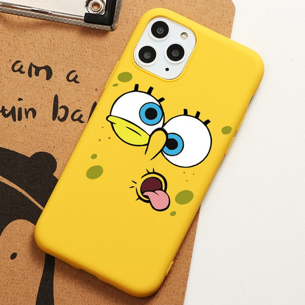 SpongeBobs SquarePants Sponge Case iPhone 11 Pro XS Max XR X 8 7 6 6S Plus