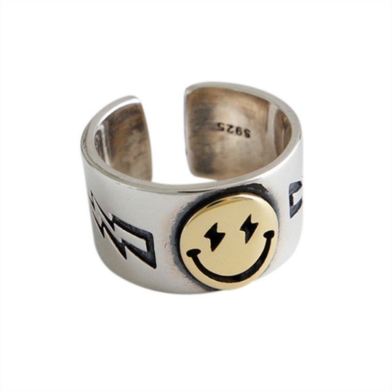 Happy Smiley Face Ring Gothic Women Jewelry - LABONNI