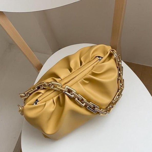 Women Luxury Designer Cloud Clutch Bag Hot Thick Chain Shoulder Bag
