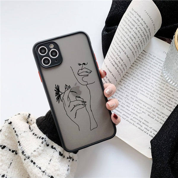 Art Retro Abstract Geometry Phone Case For iPhone Cute Anti-fall Phone Cover - LABONNI