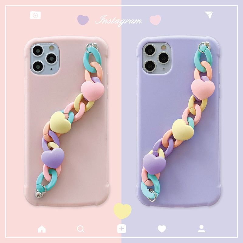 Popular Couple Macarons Love Bracelet Silicone iPhone Case