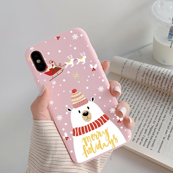 Snowman Elk Christmas Phone Cases - LABONNI