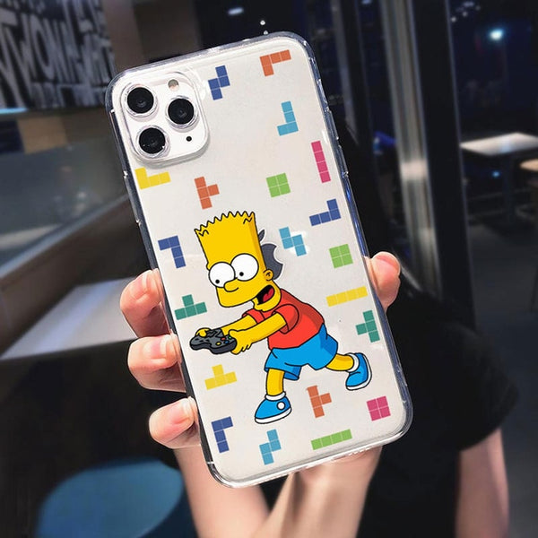 Funny Simpson Eat Apple Logo Phone Cases For iPhone 11 Pro Max