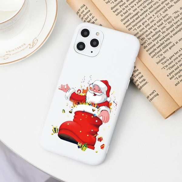 Cartoon Merry Christmas iPhone Case Santa Claus Phone Cover - LABONNI