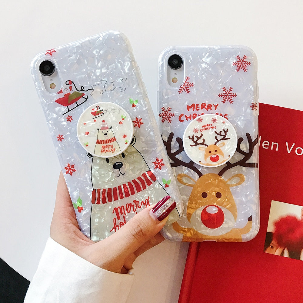Merry Christmas Snowman Phone Case For iPhone 11 Pro Max Phone Cover - LABONNI