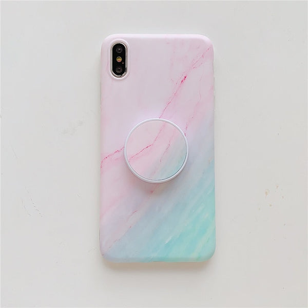 Luxury Gradient Marble Samsung Galaxy Phone Case Stand Holder Cover - LABONNI