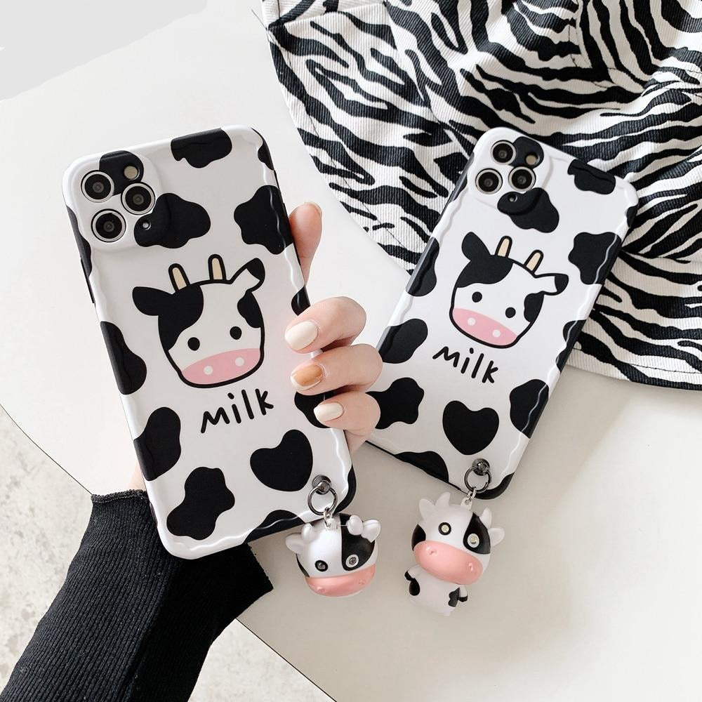 Musical Glowing Cow Pattern Cute Phone Case for iPhone - LABONNI