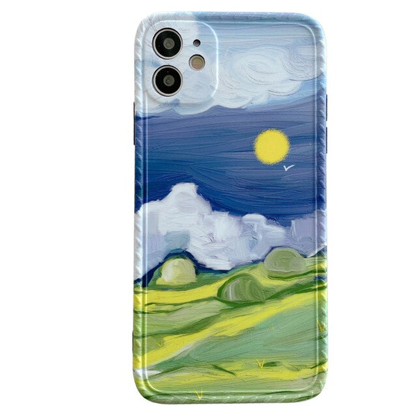 Landscape Oil Painting Design Phone Cases for iPhone