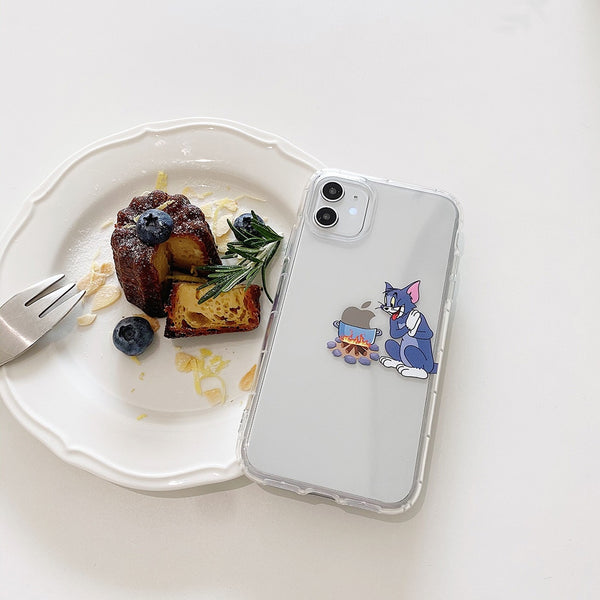 Cute Cartoon Funny Mouse Phone Case Tom & Jerry Transparent iPhone Cover