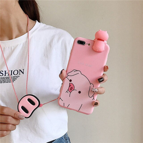 Colorful 3D Bear Cute Cartoon Lovely Samsung Galaxy Case & Lanyard