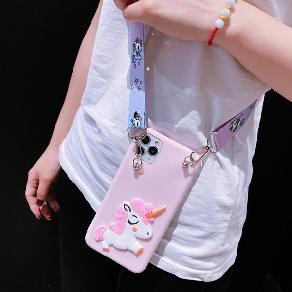 Cute 3D Cartoon Samsung Galaxy Case Shockproof Phone Cover with Lanyard