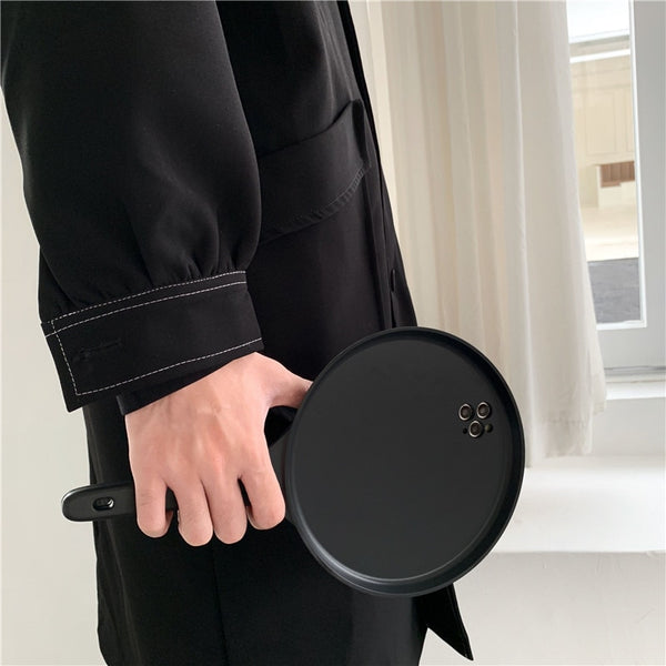 INS Frying Pan Design Funny Phone Case for iPhone