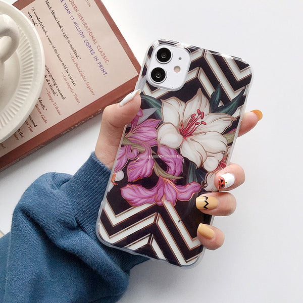 Vintage Flamingo Banana Leaf Floral Phone Case