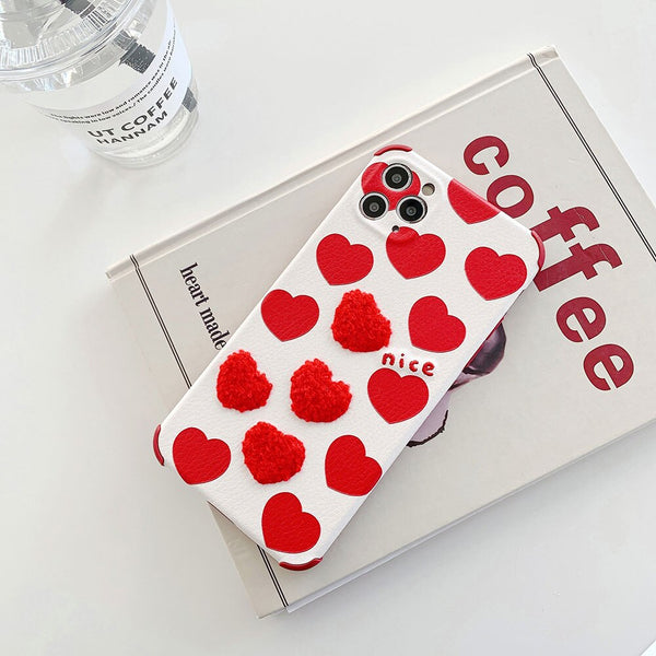 New Design Love Heart Couple Phone Case For iPhone