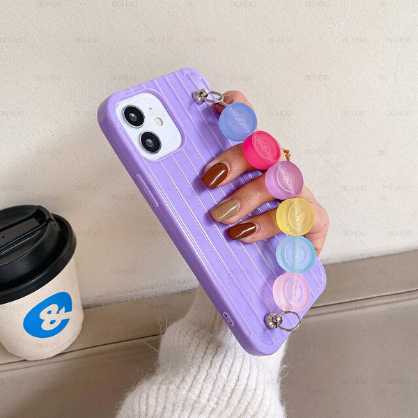 Candy Phone Case for iPhone With Cute Smile Bracelet