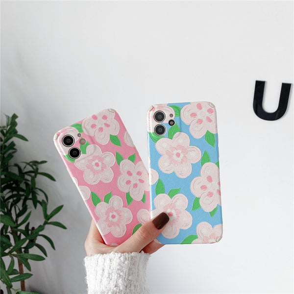 Floral Design Oil Painting Phone Cases for iPhone