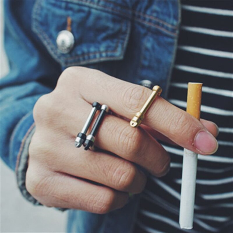 Horseshoe Stainless Steel Shackle U Cuff Ring Bangle Fashion Men Jewelry Sets