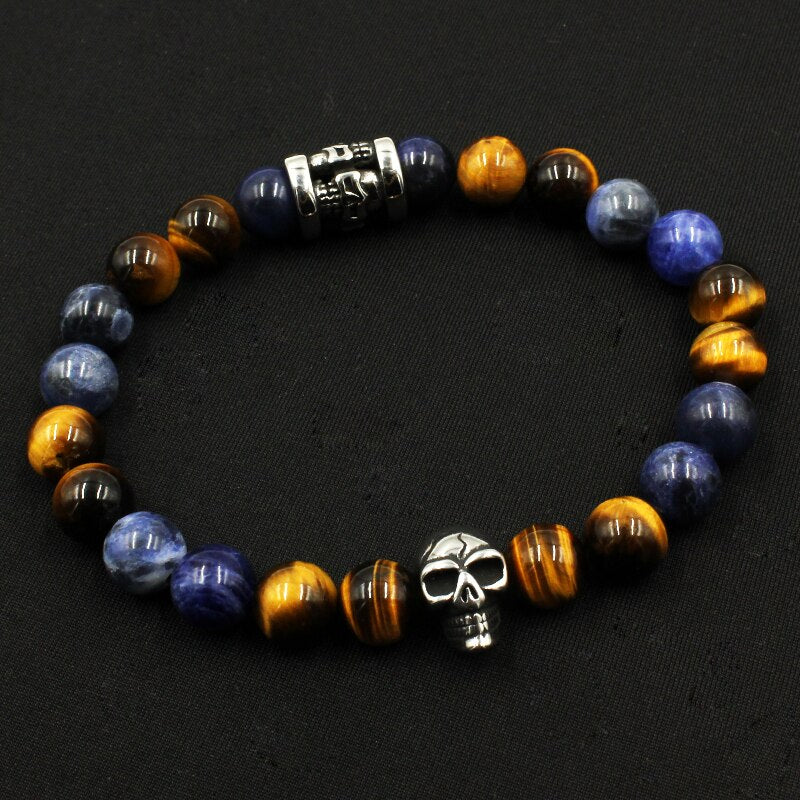 Natural Beads Tiger Eye Stone Bracelets Trendy Jewelry For Men's