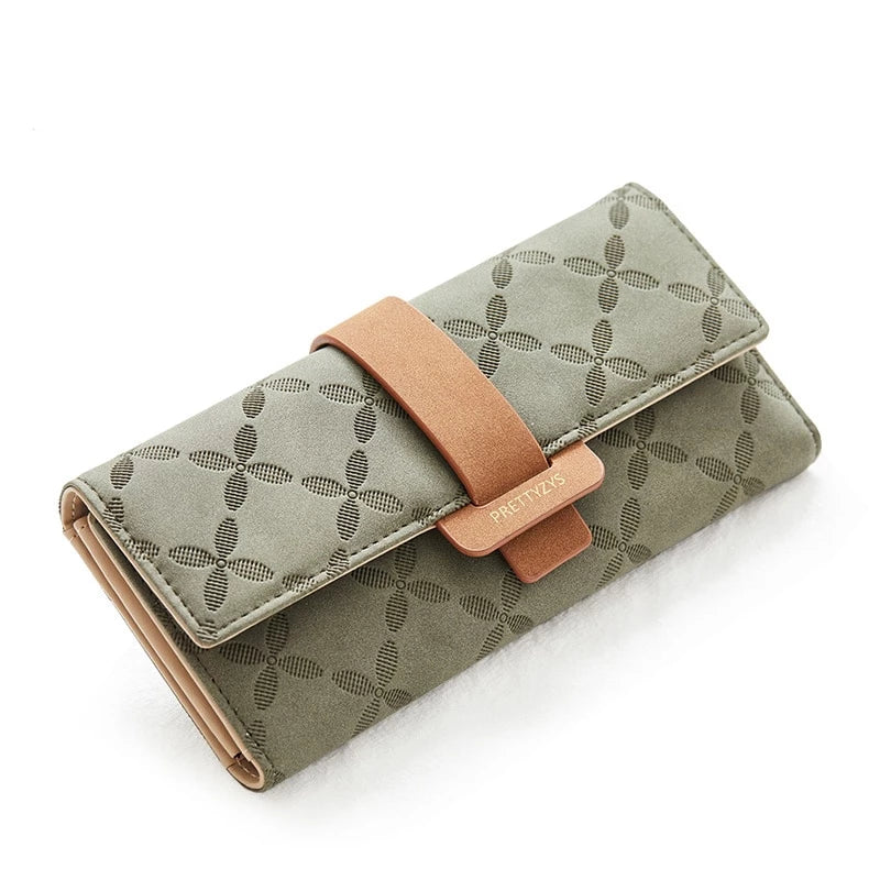 Fashion Three-Folds Long Wallet Multifunction Clutch Phone Bag