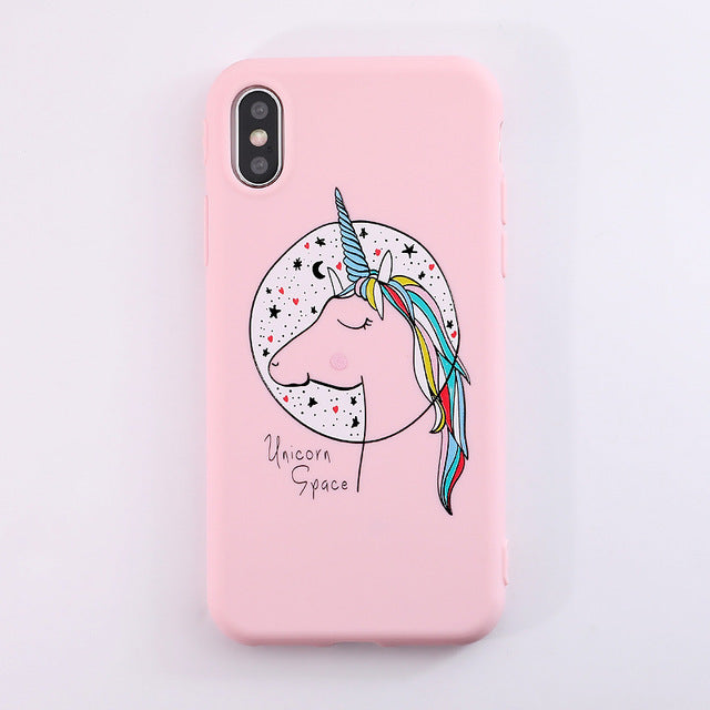 Lovely Cat Cute Unicorn iPhone Case