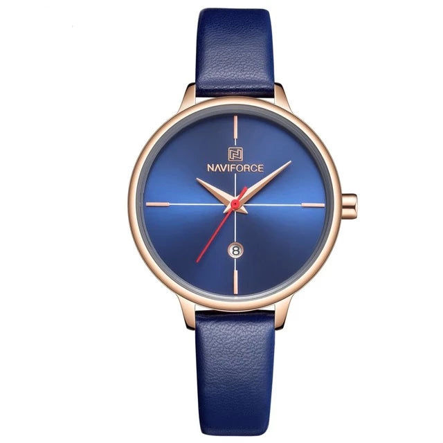 Fashion Casual Blue Watch Waterproof Women Quartz Watches