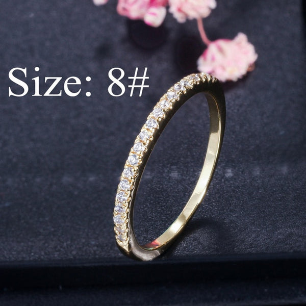 Women Engagement Wedding Bridal Party Cubic Zirconia Rings Sets Jewelry Gift - LABONNI