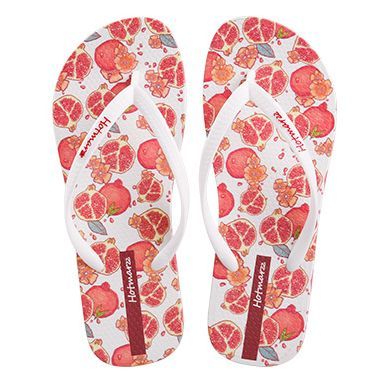 Women's Sweet Flowers Pattern Summer Beach Slippers Flip Flop