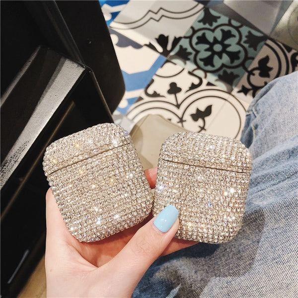 Bling Diamonds Hard Shell Apple Airpods Case Protective Cover
