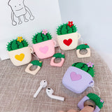 For AirPods Case Cute Cartoon Cactus Prickly Pear Earphone Cases
