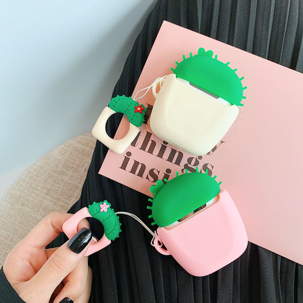 Cute Cartoon Cactus Prickly Pear AirPods Case