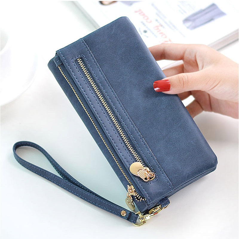 Women Wallet Coin Pocket Long Purse Large-Capacity Phone Bag