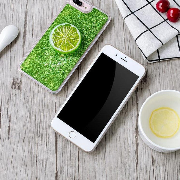 Quicksand Liquid Summer Fresh Lemon For iphone X XS MAX XR 7plus 8 Phone Case Cases