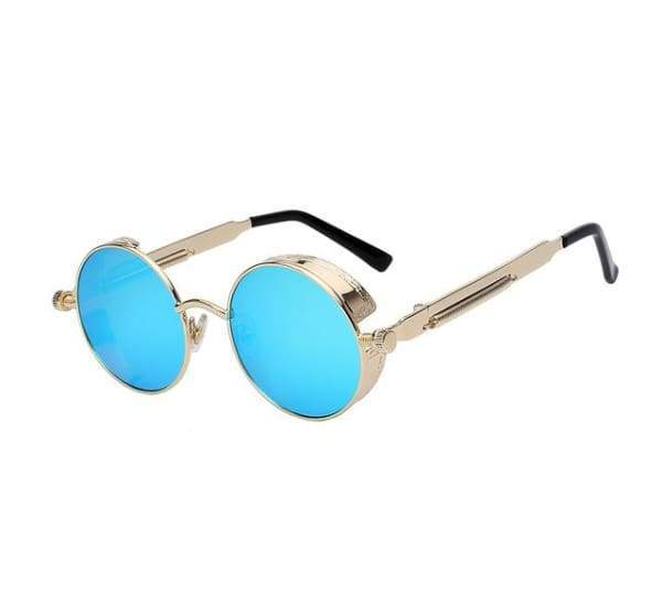 Round Metal Mirror Sunglasses UV400