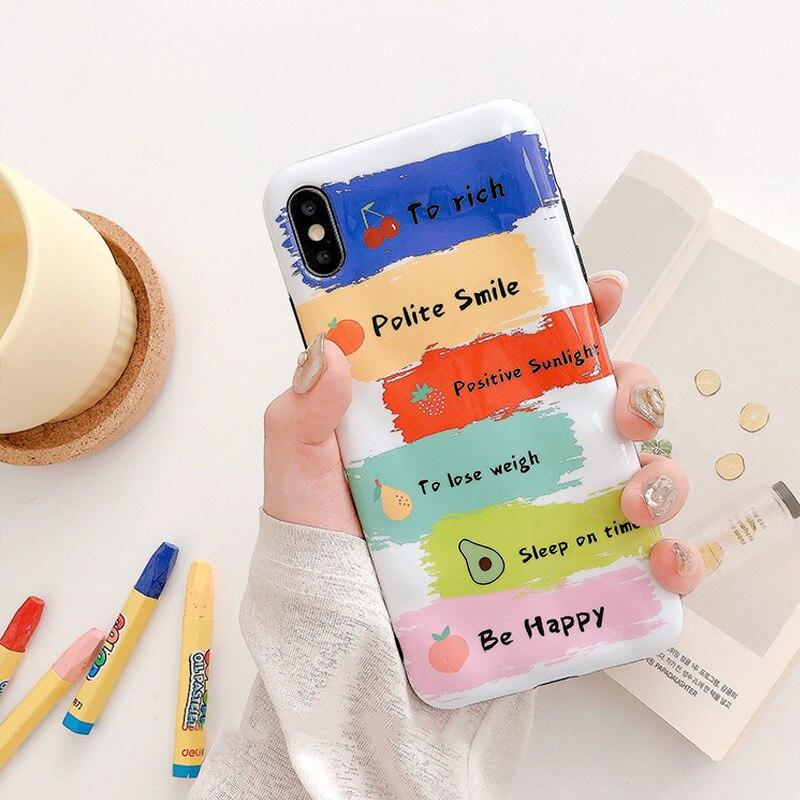 Short Inspirational Quotes Fruit Phone Case for iPhone Cases