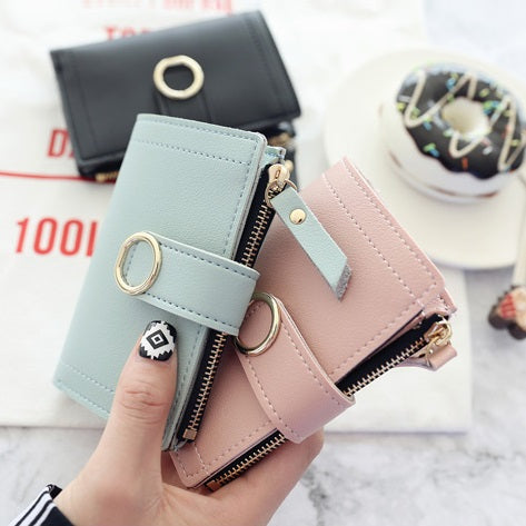 Women Wallets Small Fashion Brand Leather Purse Card Bag