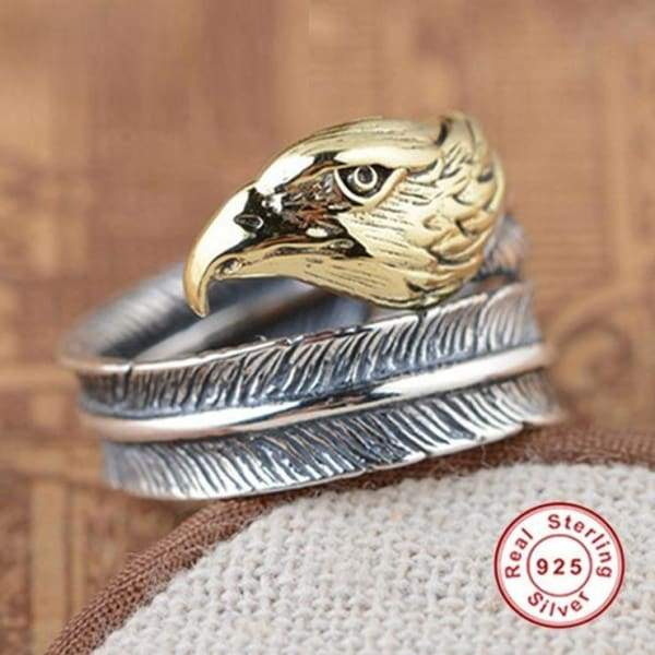 Silver Eagle Open Ring Mens High Quality Animal Rings ring
