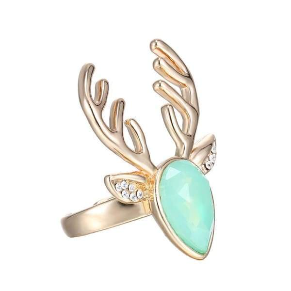 Specially Designed Crystal Deer Ring