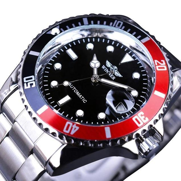 Sport Men Watches Calendar Display Automatic Self-wind Watch