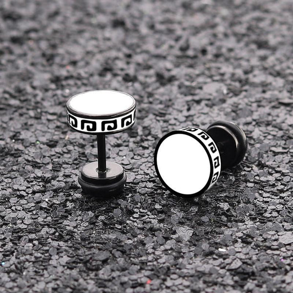 Stainless Steel Men Jewelry Fashion Titanium Stud Earrings