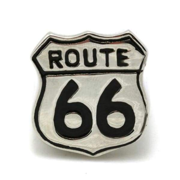 Stainless Steel USA Highway Route 66 Cool Men Ring