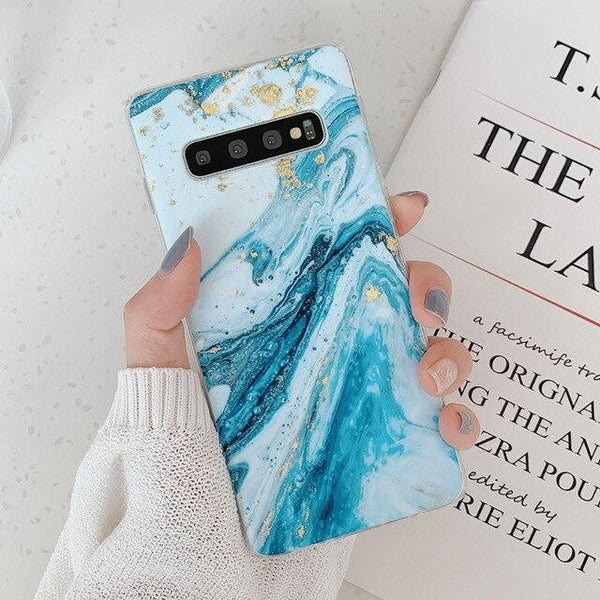 Star River Marble Phone Case For Samsung Galaxy S10 Cases