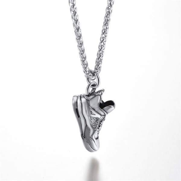 Steampunk Stainless Steel Sports Shoes Pendant Necklace For Men