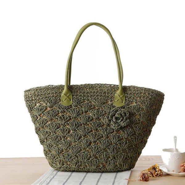 Summer Beach Bags Straw Large Woven Women Shoulder Bag Tote