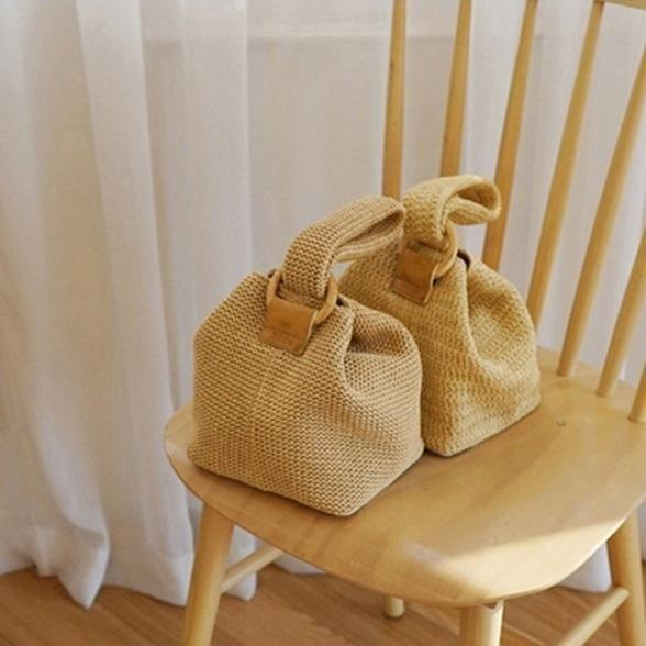 Summer Fashion Womens Handmade Mini Straw Bag Bags