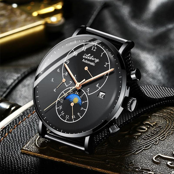 Top Brand Minimalist Automatic Mens Mechanical Diesel Watch