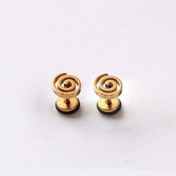 Tornado Storm Titanium Stainless Steel pierced Stud Earrings